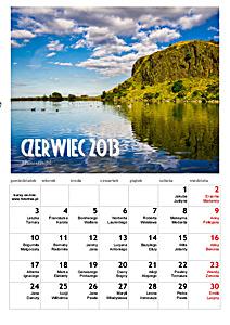 czerwiec 2013 kalendarz ścienny do wydruku