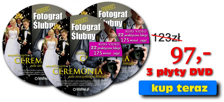 Jak robić fotografie ślubne w kościele - kurs na płytach DVD