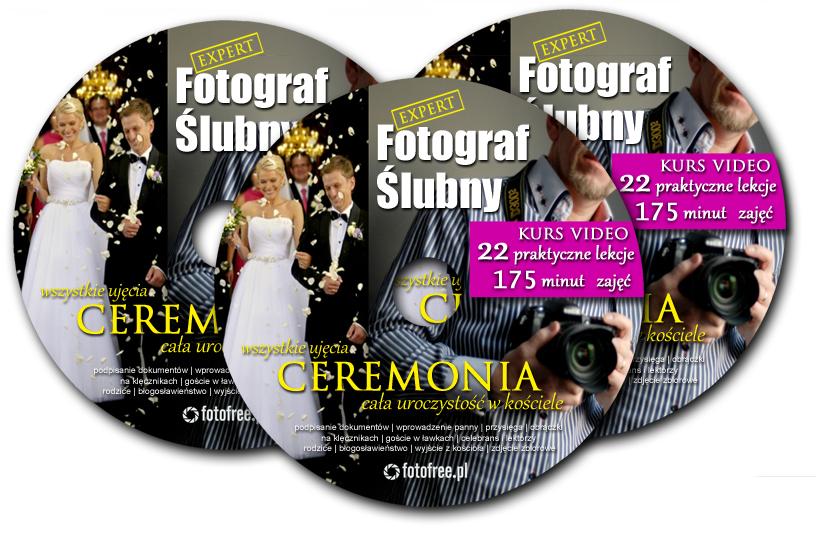 kurs dla fotografów ślubnych na płytach DVD - Jak robić zdjęcia ślubne w kościele