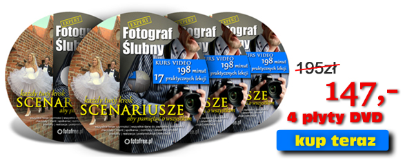 kurs dla fotografów ślubnych na 4 płytach DVD - poziom zaawansowany