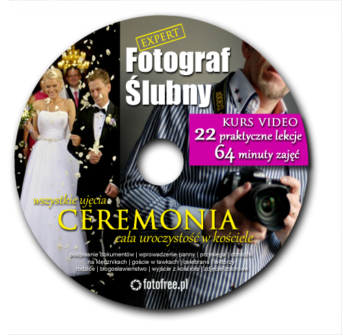 kup kurs na DVD o fotografowaniu ślubu w kościele, to 22 filmy łącznie 64 minuty porad wideo